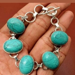 Jewelry - Turquoise 925 Sterling Silver Handmade Bracelet
